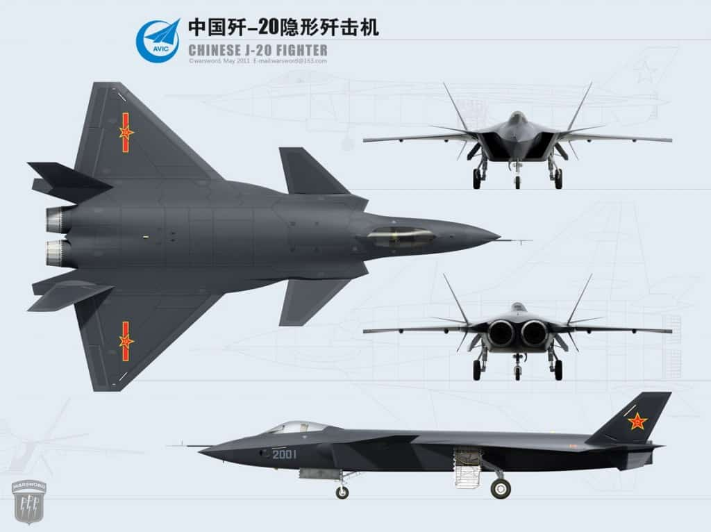Chinese J-20 Stealth Fighter | Chinese Stealth Bomber