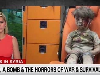 Syrian boy in ambulance