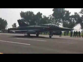 PAF Mirage Jet landing on motorway