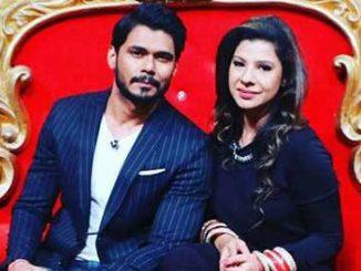 Sambhavna with her husband in comedy nights bachao