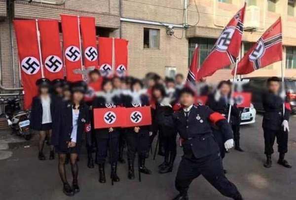Taiwan high school students Nazi cosplay event
